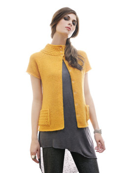 Belarus Cardigan in Blue Sky Fibers Techno