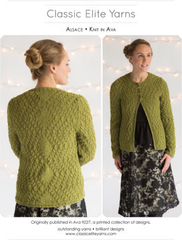 Alsace Cardigan in Classic Elite Yarns Ava  - Downloadable PDF