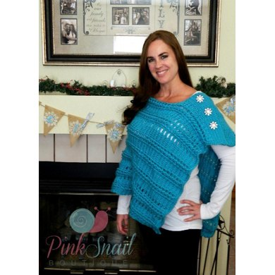 Braided Cable Poncho
