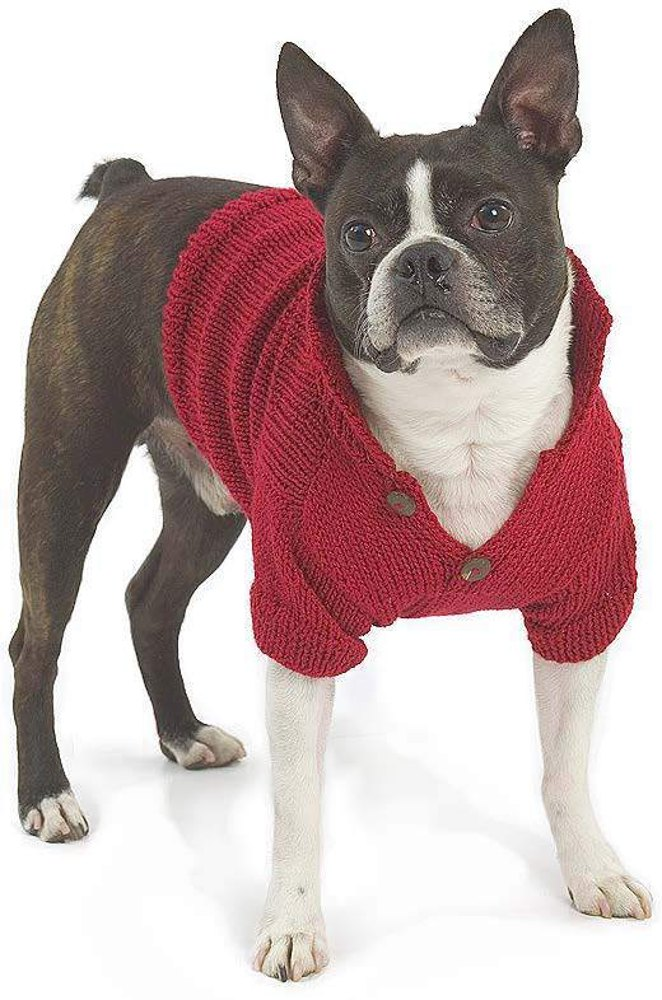 Free Easy Knitting Patterns For Medium Dog Jumpers : Buster Dog Coat in Berroco Vintage Knitting Patterns LoveKnitting