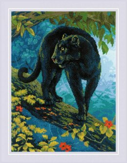Riolis Bagira Cross Stitch Kit - 30cm x 40cm