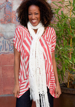 Easy Wrap Comfort Scarf in Red Heart Boutique Changes - LW2452 - Downloadable PDF