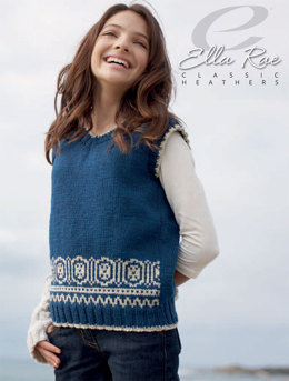 Allie Vest in Ella Rae Classic Heathers - E18-06 - Downloadable PDF