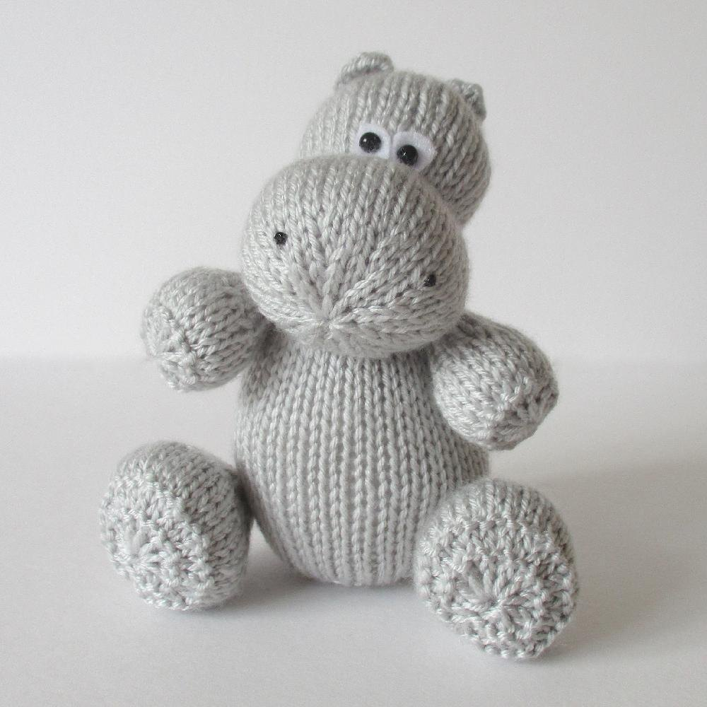 Hippo knit pattern toy amigurumi hippo stuffed zoo animals | Etsy | 1000x1000