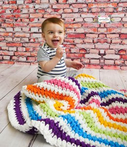 Rainbow Stripes Baby Blanket