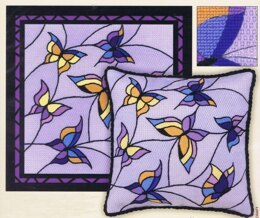 Riolis Butterflies Cushion Panel Cross Stitch Kit