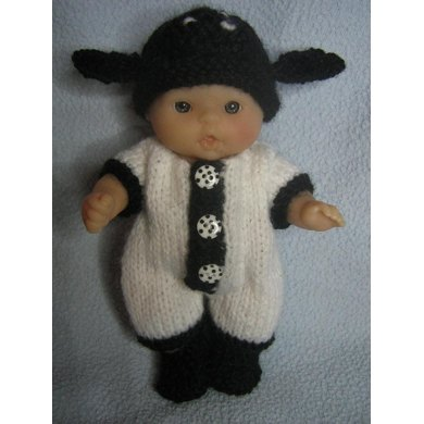 "5"" Berenguer Spring Lamb Outfit"