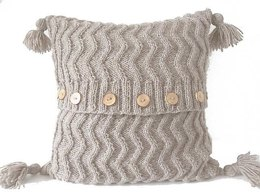 Aran Chevron Cable Cushion/Pillow
