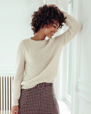 Malaury Sweater in Phildar Phil Laine Cachemire - Downloadable PDF