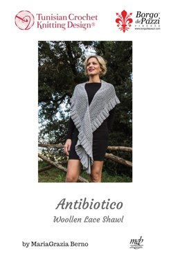 Antibiotico Woolelen Lace Shawl in Borgo de' Pazzi – Firenze Amore 240 - Downloadable PDF