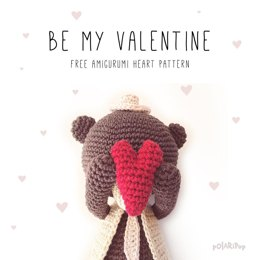 Amigurumi Valentine's Day Heart Ornament