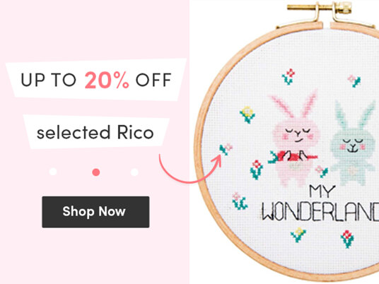Today only! Up to 20 percent off selected Rico!