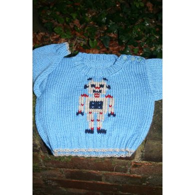 Robot Robert Baby Sweater