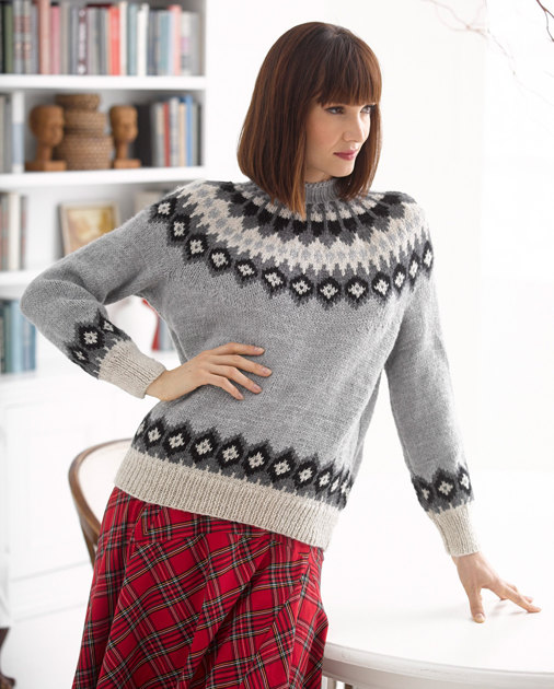 Aspen Sweater in Lion Brand Wool-Ease - L30259 Knitting Patterns LoveKnit...