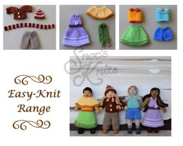 Easy-Knit Dress-Up Doll Clothes Knitting Pattern Snoo's Knits