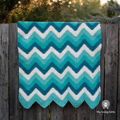 Timeless Teal Chevron Blanket