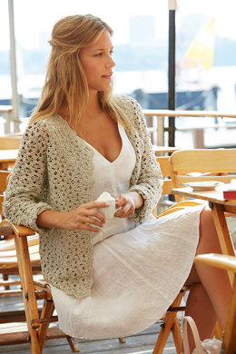 Crochet Cardigan in Linen in Schachenmayr Catania - S9014 - Downloadable PDF