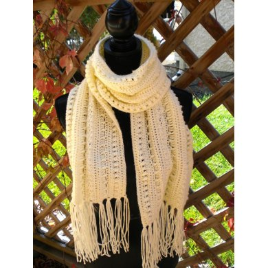 Peach Willow Tassel Scarf