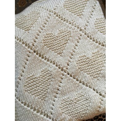 Diamond Love Blanket Knitting Pattern, PDF, Instant Download