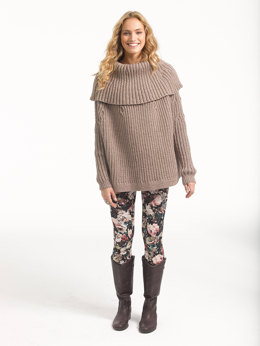 Lush Ribbed Pullover in Lion Brand Vanna's Glamour - L32206