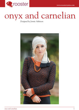 Onyx and Carnelian Jumpers in Rooster Delightful Lace