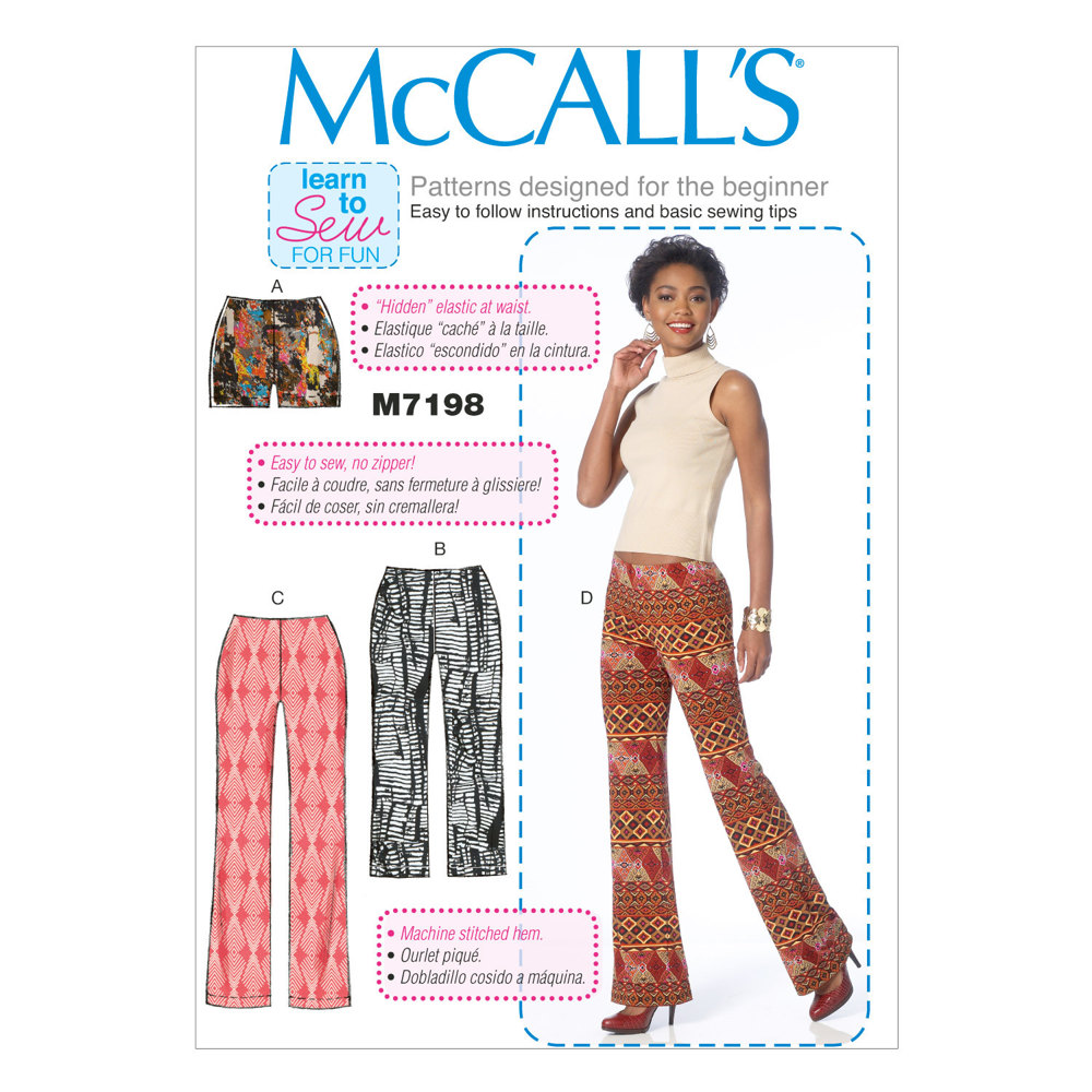 McCall\'s Misses\' Shorts and Pants M7198 - Sewing Pattern
