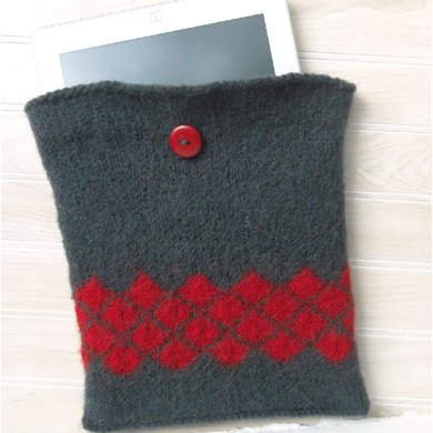Felted tablet cozy