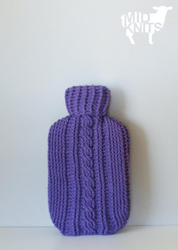 Crochet Cable Hot Water Bottle Cozy (2015026)