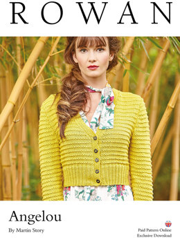 Angelou Cardigan in Rowan Summerlite DK - Downloadable PDF