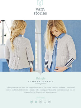 Shingle Cardigan in Yarn Stories Fine Merino DK - Downloadable PDF