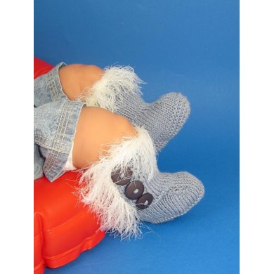 Baby Super Furry 3 Button Booties (Boots Bootees)