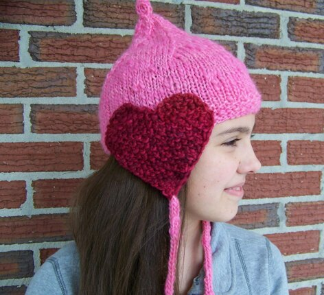 Matching hearts hat
