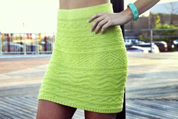 She's Electric Aztec Pattern Bodycon Skirt