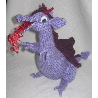 Toy Dragon Knitting pattern by Rian Anderson Knitting Patterns LoveKnitting