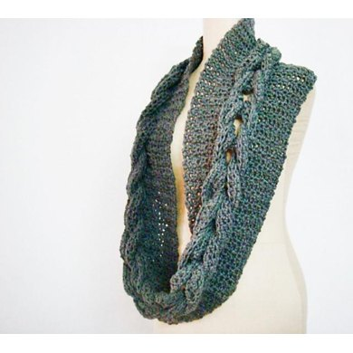 Crochet Cabled Infinity Loop Scarf Cowl Crochet Pattern By Faima
