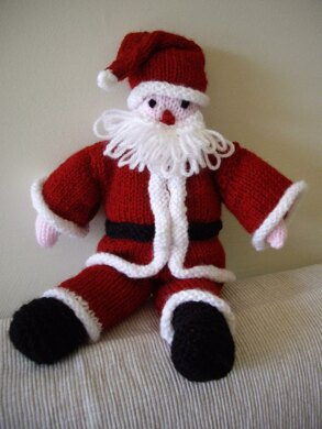 Santa knitted toy