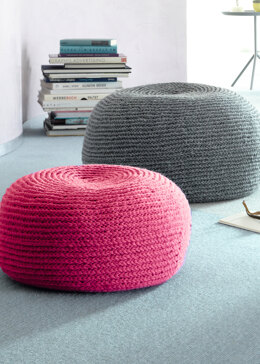 Blia Seat Pouf in Schachenmayr Boston - S10765 - Downloadable PDF