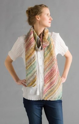Diagonal Summer Scarf in Classic Elite Yarns Bella Lino