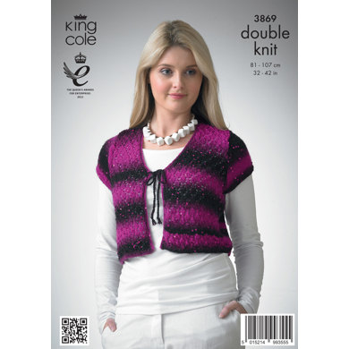 Ladies' Cardigans in King Cole Galaxy DK - 3869