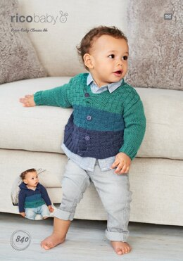 Cardigans in Rico Baby Classic DK - 840 - Downloadable PDF
