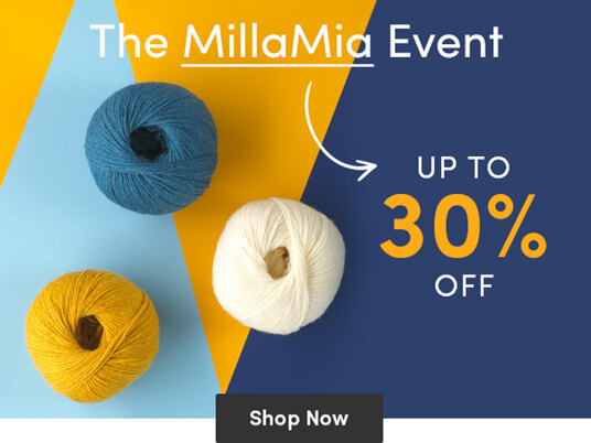 Up to 30 percent off selected MillaMia yarns!