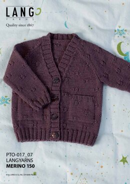 Lang Merino 150 Baby Cardigan in Lang Yarns - PTO-017_07 - Downloadable PDF