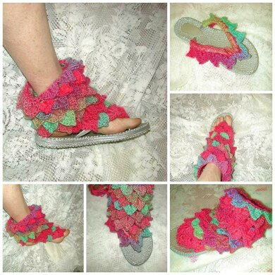 Dragon Scales Flip Flop Trim or Bootee