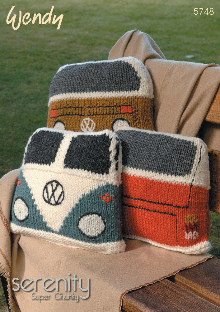 Camper Van Cushions In Wendy Serenity Super Chuky 5748 Knitting