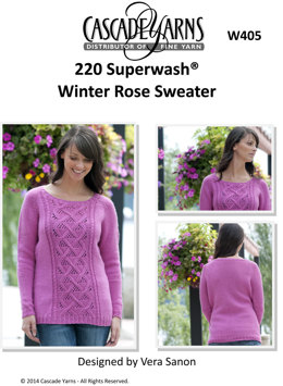 Winter Rose Sweater in Cascade 220 Superwash - W405