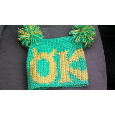 Sack Beanie - Monsters University Oozma Kappa Inspired