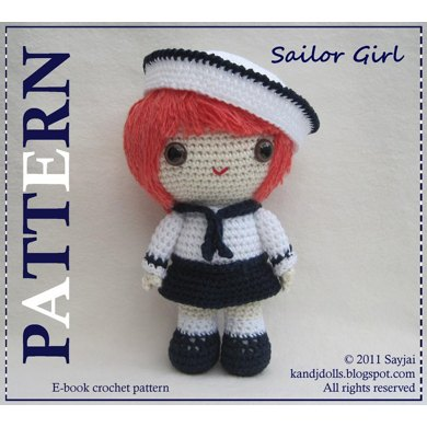 Sailor Girl - PDF Amigurumi doll pattern