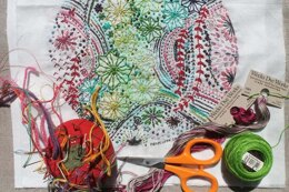 Dropcloth Samplers Milky Way Embroidery Kit - 8in x 8in