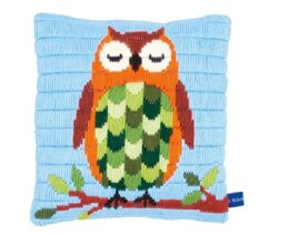 Vervaco Sleeping Owl Long Stitch Cushion Front