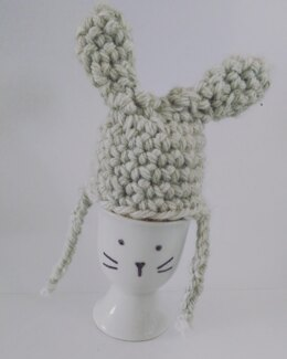 Bunny hat egg cover